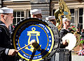 U.S. Sailors with the U.S. Naval Forces Europe Band perform for David Wilson, the lord lieutenant and lord provost of Edinburgh, Scotland, in Edinburgh July 30, 2012 120730-N-VT117-843.jpg