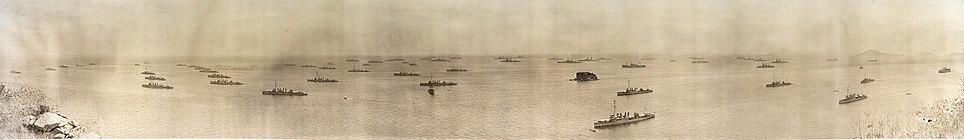 US fleet off the coast of Panama, March 1, 1923