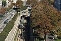 U6 norde de Burggasse-Stadthalle, rigardate de la ĉefbiblioteko.jpg