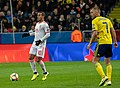 UEFA EURO qualifiers Sweden vs Spain 20191015 Thiago Alcantara and Sebastian Larsson 2.jpg
