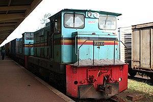 Uganda Railways Corporation - URC locomotives at Kampala station, Uganda