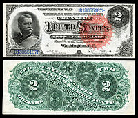$2 Silver Certificate, Series 1886, Fr.242, depicting Winfield Scott Hancock