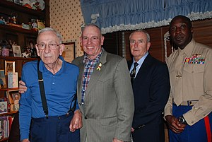 Harold G. Overstreet - Former Sgts. Maj. of the Marine Corps in 2009 - Henry H. Black, 7th SMMC; Harold G. Overstreet, 12th SMMC; Lewis Lee, 13th SMMC; and Carlton W. Kent, the 16th,