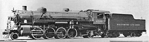 Buffalo, Rochester and Pittsburgh Railway - A Mikado locomotive of the Baltimore and Ohio