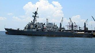 USS Paul Hamilton (DDG-60) - Image: USS Hamilton Left Side View