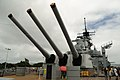 USS Missouri - Rear Guns (6179881743).jpg