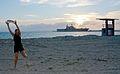 USS Peleliu White Beach port visit 140921-N-HU377-001.jpg