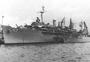 USS Piedmont (AD-17) with Iranian Bayandor-class corvettes c1969.jpg