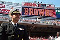 US Navy 030907-N-8546B-001 Cmdr. Jim Rodes, from Cleveland, Ohio, was honored at Cleveland Browns Stadium as part of the Browns Hats Off To Our Heroes tribute to the military.jpg