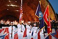 US Navy 050704-N-1134F-006 The USS Bataan (LHD 5) color guard presents honors during the playing of the National Anthem sung by the Army's Field Band and the Boston Pops Orchestra.jpg
