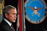 US Navy 060104-D-2987S-100 President of the United States George W. Bush speaks to reporters in the Pentagon.jpg