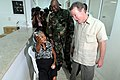 US Navy 080829-N-5642P-061 U.S. Ambassador to Colombia William Brownfield speaks with a patient.jpg