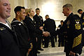 US Navy 100305-N-9818V-013 Master Chief Petty Officer of the Navy (MCPON) Rick West meets with Sailors before the 95th Navy Reserve Anniversary and Reenlistment ceremony.jpg