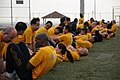US Navy 100507-N-3283P-016 Sailors perform curl-ups during a command Physical Fitness Assessment (PFA) on Berkey Field at Fleet Activities Yokosuka.jpg
