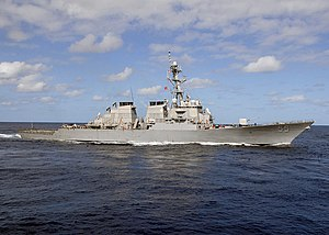 USS Stout (DDG 55) underway, Atlantic Ocean,  26 September 2010
