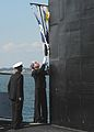 US Navy 101105-N-7179M-247 The pennant of Vice Adm. John J. Donnelly is lowered aboard the Los Angeles-class attack submarine USS Montpelier (SSN 7.jpg