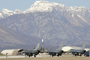 2011 military intervention in Libya - U.S. Air Force F-16 return to Aviano Air Base in Italy after supporting Operation Odyssey Dawn, 20 March