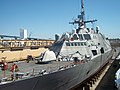 US Navy 110705-N-XM611-001 The littoral combat ship USS Freedom (LCS 1) is undergoing $1.8 million in maintenance while in dry dock at BAE Systems.jpg