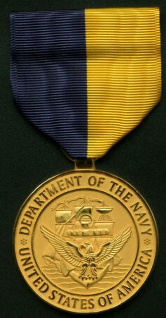 Navy Distinguished Public Service Award - Medal of the award