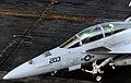 US Navy http-www.navy.mil-management-photodb-photos-100603-N-4236E-138 An F-A-18F Super Hornet taxis across the flight deck aboard USS Dwight D. Eisenhower (CVN 69).jpg