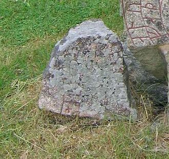 Lingsberg Runestones - The runestone fragment U 242.