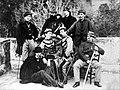 Ufficiali garibaldini Faconti, Zancani, Baratieri, Bezzi Enoch, Martini, Bezzi Ergisto, Tranquillini, Fontana (1860).jpg
