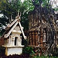 Unidentified spirit house and temple ruin in Chiang Mai.jpg