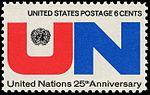 United Nations 25th Anniversary 6c 1970 issue U.S. stamp.jpg