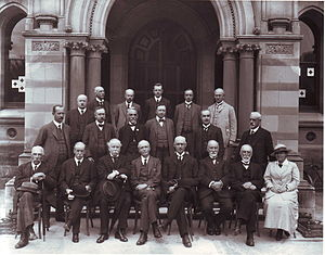 Helen Mayo - The University of Adelaide Council in 1919.  Helen Mayo is first on the right in the front row.