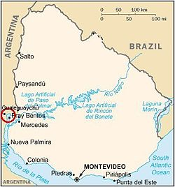 Uruguay River Pulp Mill Dispute Wikipedia - Uruguay river world map