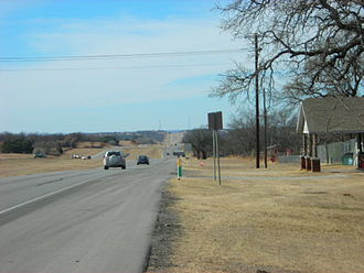 U.S. Route 180 - US 180 west of Weatherford, Texas