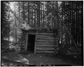 VIEW TO NORTH - Pineau Placer Mining Camp, Reservoir and Cabin, Goldcreek, Powell County, MT HAER MONT,20-GOCRE.V,2-A-2.tif