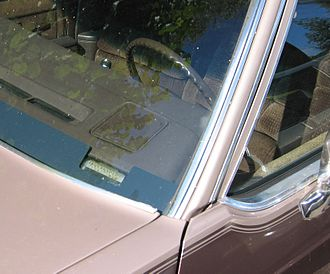 Vehicle identification number - VIN visible in the windshield