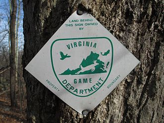 Virginia Wildlife Management Areas - Virginia Wildlife Management Area boundary sign