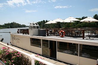Floating restaurant - A floating restaurant on the Vaal River at Vereeniging, South Africa