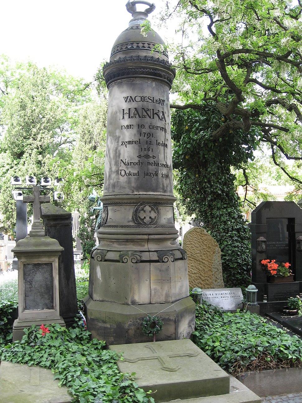 Vaclav Hanka grave Vysehrad Cemetery Prague