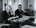 Valtionarkisto 1967. Vas. Federley, Outakoski ja Salmela arkistopäivillä 25.5.1967 Helsingissä. Kansallisarkisto.jpg