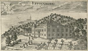 Leutemberg Castle - Leutemberg Castle by Valvasor