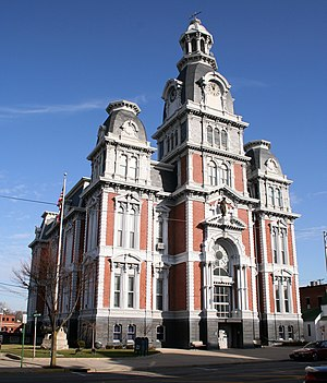 Van Wert, Ohio - Van Wert County Courthouse (built 1874-1876) is listed on the National Register of Historic Places.