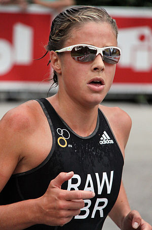 Vanessa Raw - Vanessa Raw at the World Championship Series triathlon in Kitzbühel, 2010.