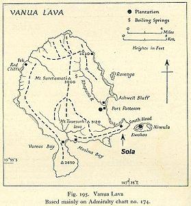 Map of Vanua Lava
