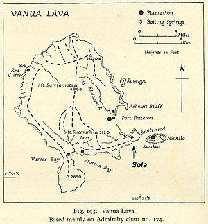 Vanua Lava - Map of Vanua Lava