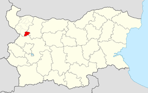 Varshets Municipality - Image: Varshets Municipality Within Bulgaria