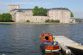Vaxholm Fortress - As seen from Vaxholm
