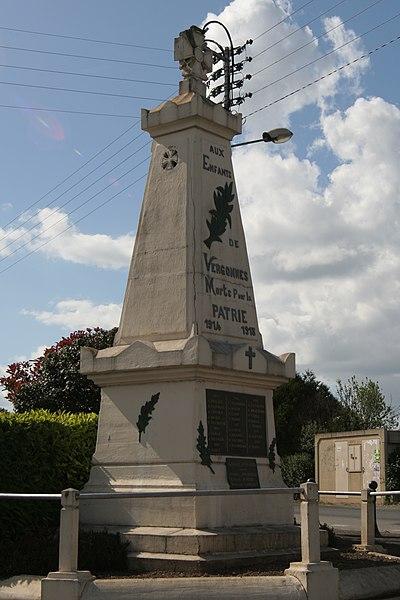 Monument aux morts de Vergonnes.