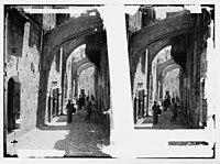 Via Dolorosa, beginning at St. Stephen's Gate. Fifth Station of the Cross. LOC matpc.07564.jpg