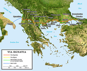 Via Egnatia - Route of the Via Egnatia.