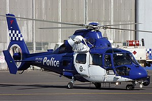 Victoria Police (CHC Helicopters Australia) Eurocopter AS-365N-3 Dauphin 2 Vabre-3.jpg