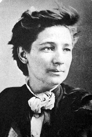 International Workingmen's Association in America - Victoria Woodhull (1838-1927) - Spiritualist, feminist, stockbroker, reform advocate, leader of Section 12, and 1872 candidate for President of the United States.