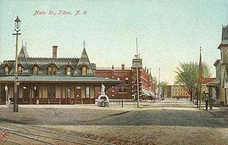 Tilton, New Hampshire - Image: View of Main Street, Tilton, NH